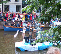 Amsterdam's pride parade is held in its canals