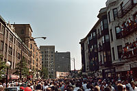 Pride march in Lakeview, Chicago in 1985