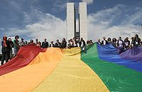 LGBT flag extended in the Parliament of Brazil