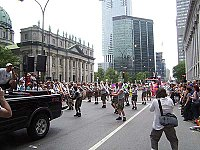 Baton twirlers perform in the 2002 Divers/Cité pride parade in Downtown Montreal.