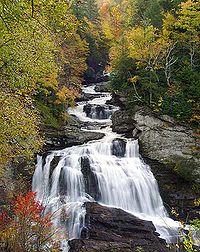 Cullasaja Falls in Macon County
