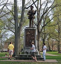 Confederate soldier monument Silent Sam, University of North Carolina at Chapel Hill (now removed), by John Wilson