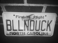 A North Carolina license plate