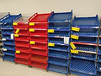 Empty bread shelves at a supermarket in Wellington after panic buying (22 March 2020)