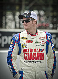 Dale Earnhardt Jr. (pictured in 2012) led a total of 37 laps.