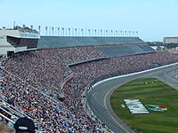 Daytona International Speedway, the site of the race.