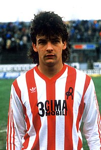 Roberto Baggio on his debut with Lanerossi Vicenza
