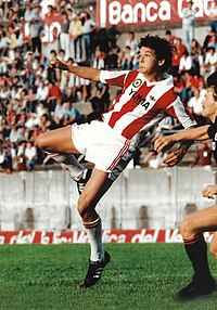 A young Roberto Baggio with L.R. Vicenza