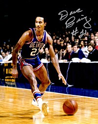 Dave Bing joined the team in 1966, scoring 1,601 points in his rookie year.