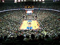 The Detroit Pistons playing in The Palace of Auburn Hills, seen here in January 2006.