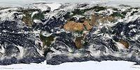 Satellite image of Earth cloud cover using NASA's Moderate-Resolution Imaging Spectroradiometer