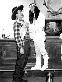 """""""Deadeye"""" and Darin in a 1965 Red Skelton Show skit"""