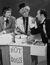 Dean Martin Presents: The Bobby Darin Amusement Company, L-R: Dick Smothers, Tom Smothers, and Bobby Darin as the Marx Brothers (1972)