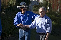 Petty with President George W. Bush in 2006