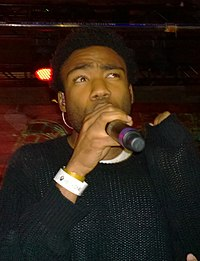 Glover performing as Childish Gambino at South by Southwest in 2014
