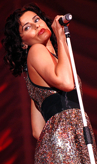 Nelly Furtado performing live at Manchester Arena on February 16, 2007