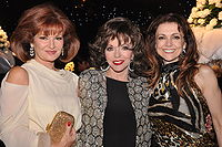 Joan Collins with Dynasty co-stars Stephanie Beacham and Emma Samms in London, 2009