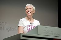 HIV campaigner Lennox in Germany ahead of World AIDS Day in 2008