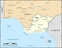 The Republic of Biafra in June 1967, when it declared its independence from the rest of Nigeria