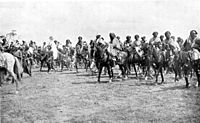 Emir of Kano with cavalry, 1911