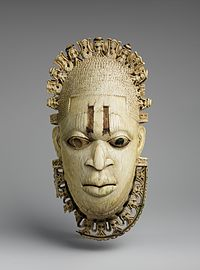 Royal Benin ivory mask, one of Nigeria's most recognized artifacts. Benin Empire, 16th century.