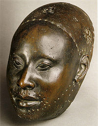 Yoruba copper mask of Obalufon from the city of Ife c.1300