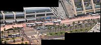 Comic Con crowds in 2011 as seen from a helicopter