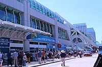 The San Diego Convention Center during Comic-Con in 2013