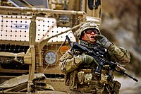 A SSG of the 182nd Infantry Regiment during deployment in Afghanistan