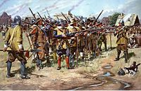 First muster of the Massachusetts Bay Colonial Militia, spring of 1637