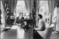 Charles meeting with President Richard Nixon, 1972 (photo by Oliver F. Atkins)