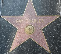 Star honoring Charles on the Hollywood Walk of Fame, at 6777 Hollywood Boulevard