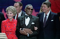 Charles with President Ronald Reagan and First Lady Nancy Reagan, 1984