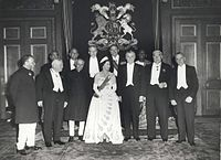 Elizabeth II and Commonwealth leaders at the 1960 Commonwealth Conference