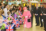 Visiting Birmingham in July 2012 as part of her Diamond Jubilee tour