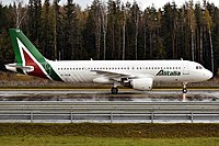 Alitalia Airbus A320 in the Current Livery Design