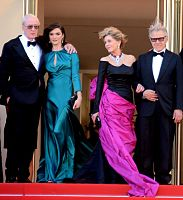 Michael Caine, Rachel Weisz, Fonda, and Harvey Keitel at the Youth premiere at the 2015 Cannes Film Festival