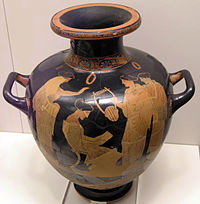 Sappho reading to her companions on an Attic vase of c. 435 BC.