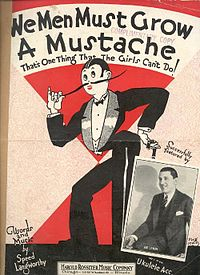 Sheet music poking fun at the masculine traits many women adopted during the 1920s.