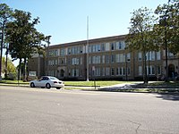 Leonard Skinner was a physical education instructor at Robert E. Lee High School (pictured) in Jacksonville, Florida known for his strict enforcement of the school's regulations on male hair length