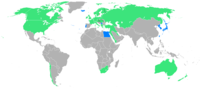 Participants; blue: first time. Yellow dot: Stockholm