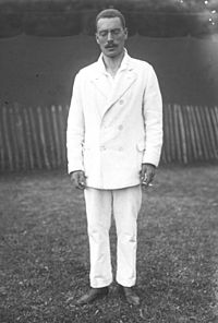 Felix Pipes, tennis doubles silver medalist.