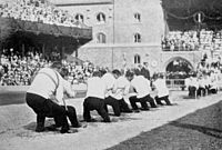 The only tug of war bout which took place at the 1912 Games