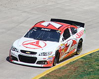 The No. 7 SANY Chevrolet at Martinsville Speedway in 2013.