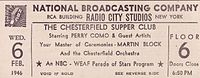 Perry Como television and radio shows