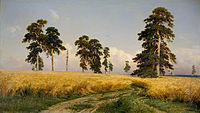 Rye Fields, by Ivan Shishkin. Russia is the world's top producer of barley, buckwheat and oats, and one of the largest producers and exporters of rye, sunflower seed and wheat.