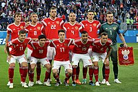 The Russia national football team at 2018 FIFA World Cup in Russia