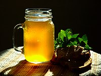 Kvass, a bread-based drink and a key ingredient in many soups.