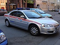 A GAZ Volga used by the Police of Russia