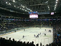 VTB Ice Palace during a game of KHL, a league considered to be the second-best in the world